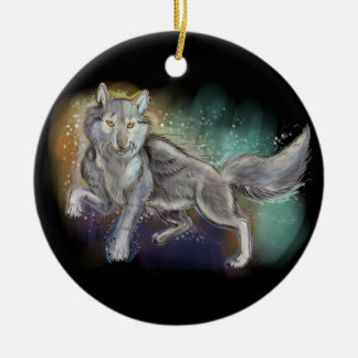 Spirit of the Wolf Christmas Ornament