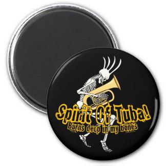 Spirit Of Tuba! 6 Cm Round Magnet