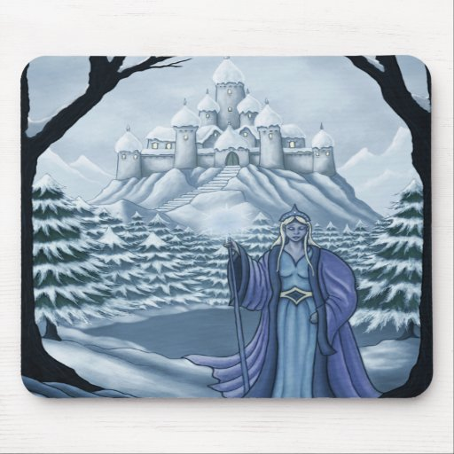 spirit of winter holiday mouse pads