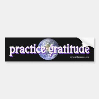 Spirit Passages Practice Gratitude Sticker Bumper Sticker