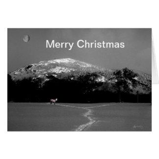 Spirit Pony Under Gibbous Moon Christmas Card