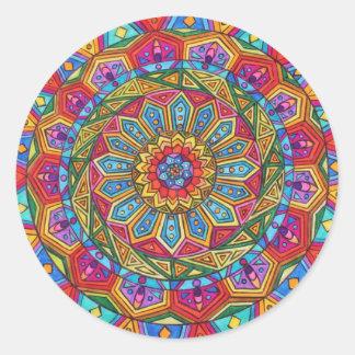Spirit & Soul, Mandala #10 Classic Round Sticker