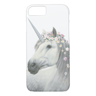 Spirit Unicorn with Flowers in Mane iPhone 8/7 Case