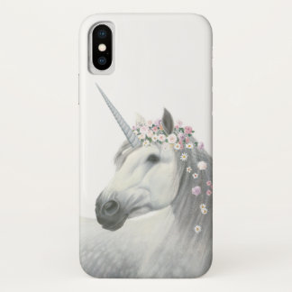 Spirit Unicorn with Flowers in Mane iPhone X Case