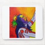 Spirit Warrior by Piliero Mouse Pads