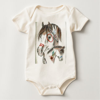 Spirit Warrior Ponies Baby Bodysuit