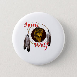 Spirit Wolf 6 Cm Round Badge