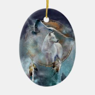Spirit Wolf Art Ornament