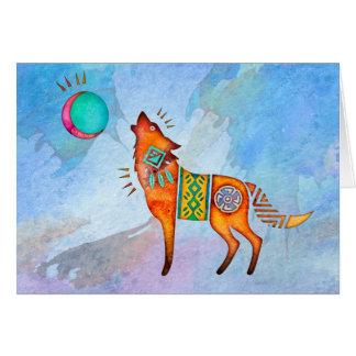Spirit Wolf Blank Notecard