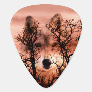 Spirit wolf face plectrum
