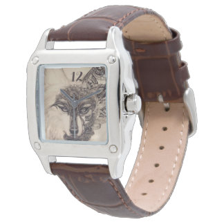 spirit wolf leather watch