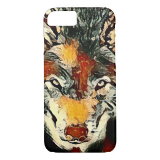 Spirit Wolf Paint Wildlife Art Apple iPhone 7 Case