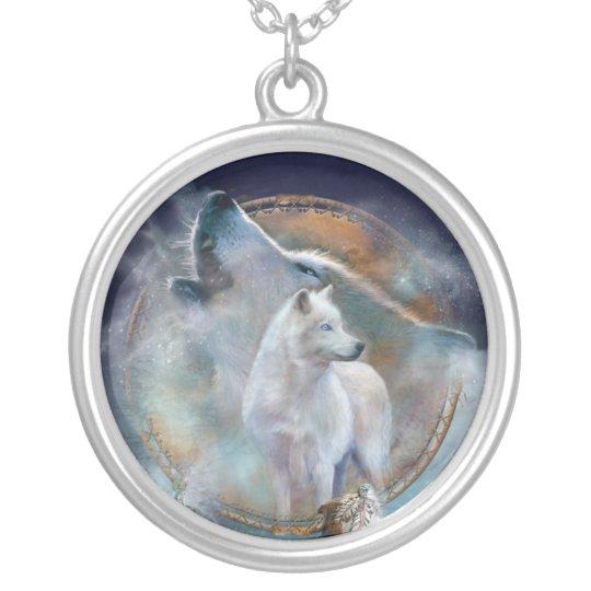 Spirit Wolf Wearable Art Necklace