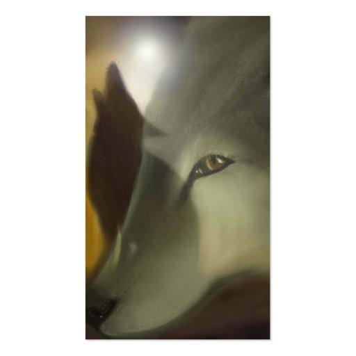 spirit wolves business card template