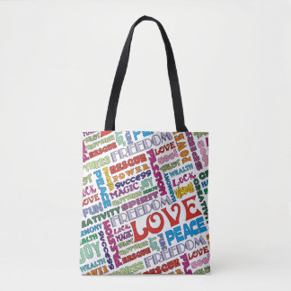Spirit Words / Affirmations multi colored Tote Bag
