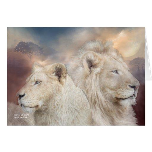 Spirits Of Light - White Lion ArtCard Cards