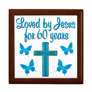 SPIRITUAL 60TH BIRTHDAY LARGE SQUARE GIFT BOX