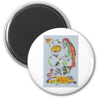 Spiritual 6 Cm Round Magnet