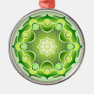 Spiritual Abstract Green Mandala Heart Chakra Christmas Ornament