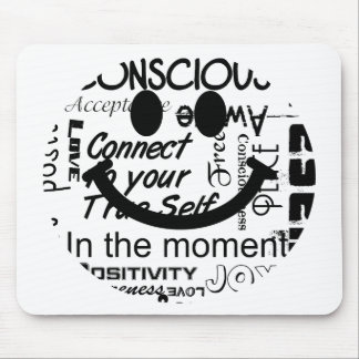 Spiritual affirmations smiley mouse mat