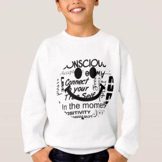 Spiritual affirmations smiley sweatshirt