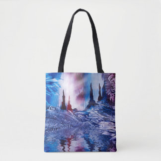 Spiritual cavern of Castles painting in wax Tote Bag
