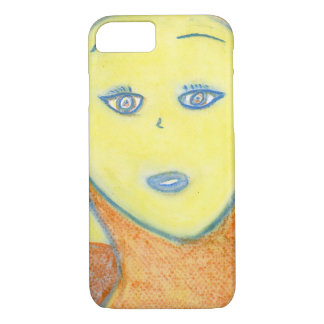 Spiritual Chalk Drawing of Archangel Uriel iPhone 7 Case