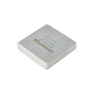 Spiritual Faithful Missionary Stone Magnet