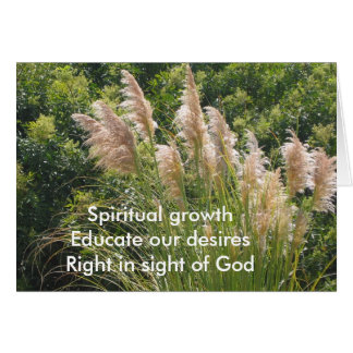 Spiritual Growth Haiku Card
