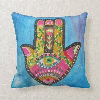 "Spiritual Hamsa Painting ""HAND of GOD"" Art Cushion"