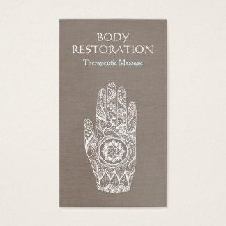 Spiritual Healer Henna Lotus Tattoo Hand 3