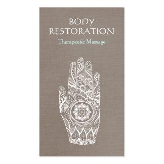 Spiritual Healer Henna Lotus Tattoo Hand 3 Pack Of Standard Business Cards