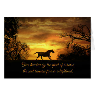 Spiritual Horse Sympathy Card with Horse & Sunset