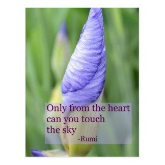 Spiritual Iris Inspirational Rumi Quote Postcard