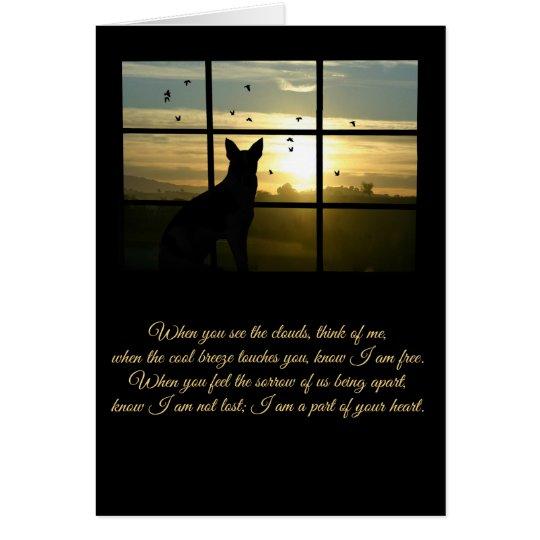 Spiritual Loss of Dog, Dog in Window Sympathy