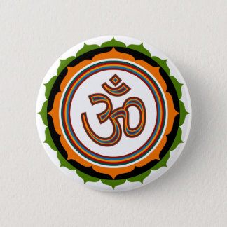 Spiritual Lotus Om Design 6 Cm Round Badge