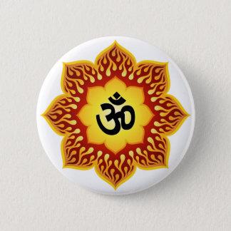 Spiritual Lotus Om Design 6 Cm Round Badge