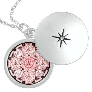 Spiritual Magick Symbol Talisman Locket Necklace