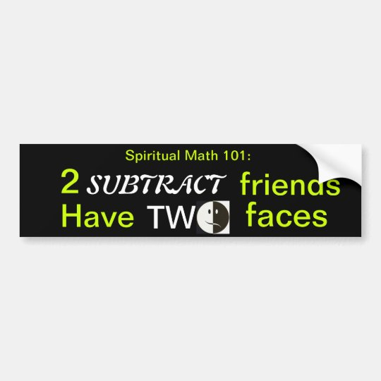 spiritual math 101-21hb bumper sticker