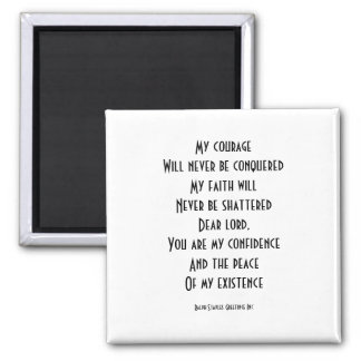 Spiritual message square magnet