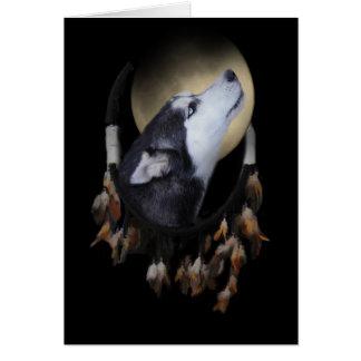 Spiritual Native American Dog Sympathy Card Dream