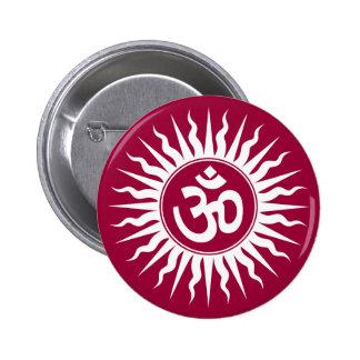 Spiritual Om 6 Cm Round Badge