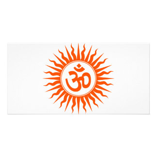 Spiritual Om Customized Photo Card