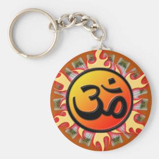 Spiritual Om Key Chain