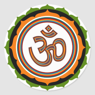 Spiritual Om On Lotus Sign Stickers