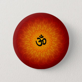 Spiritual Om On Mandala 6 Cm Round Badge