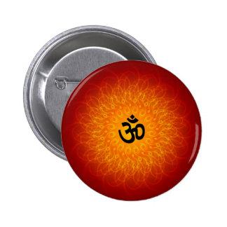 Spiritual Om On Mandala 6 Cm Round Badge