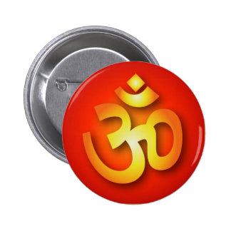 Spiritual Om Sign 6 Cm Round Badge