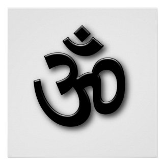 Spiritual Om Sign Poster