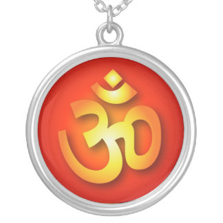 Spiritual Om Silver Plated Necklace